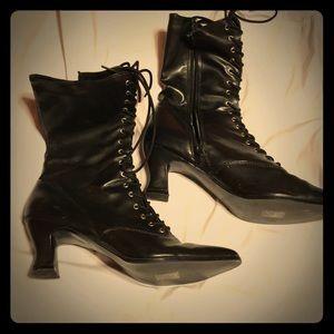 Vintage looking black boots